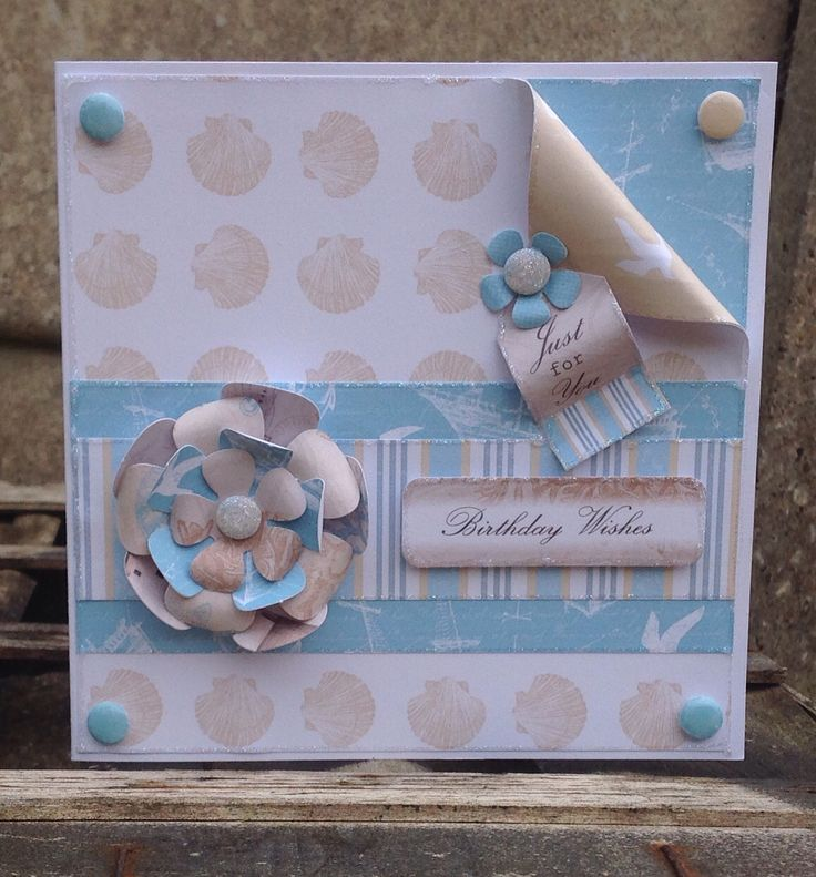 Card designed by Julie Hickey using Coastal Paper pad and Candi