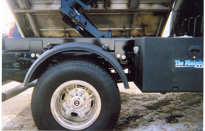 Minimizer Poly Fenders : Minimizer poly truck fenders black quot wheels