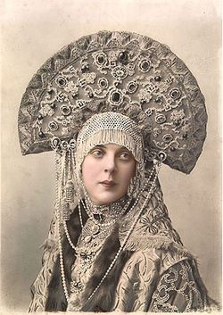 Princess Orlova-Davydova in Masquerade Costume for the Ball of 1903. The headdress is a traditional Russian headpiece called a кокошник, or kokoshnik. #slavic #royalty