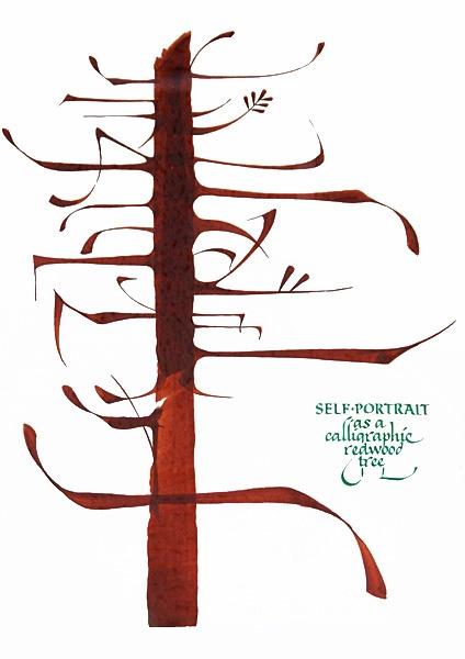 Alan Blackman.  Ik blijf naar deze Kalligrafie kijken. zijn het nou letters of is het alleen kunstig?