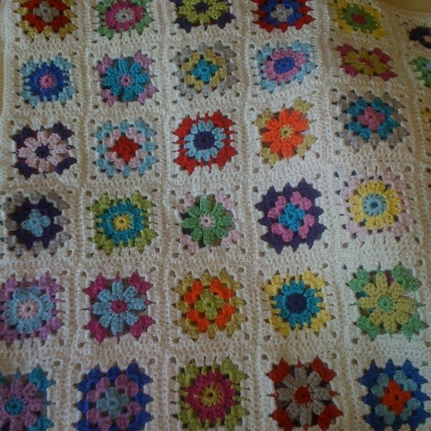 My beautifully handmade granny blanket