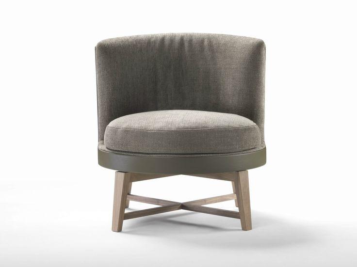 Cadeira lounge estofada de tecido FEEL GOOD SOFT by FLEXFORM design Antonio Citterio