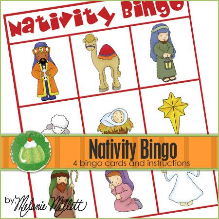 NATIVITY BINGO  Downloadable PDF Only by GreenJelloWithCarrot, $2.00