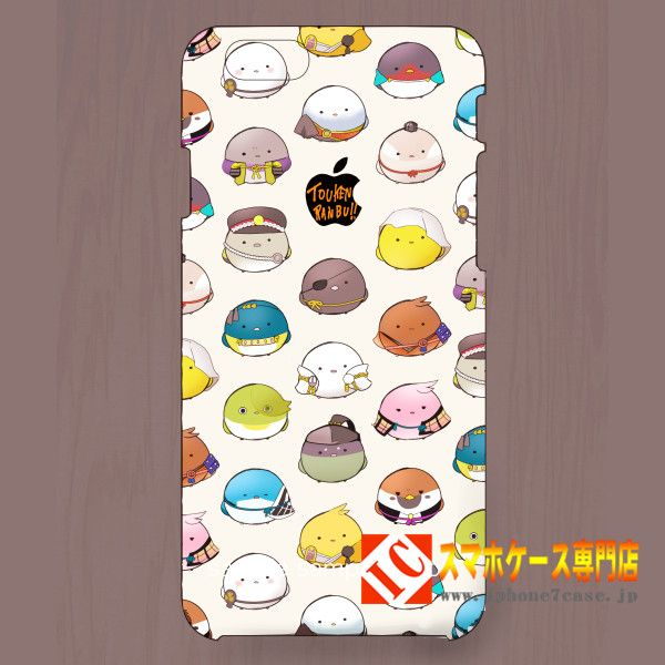 iphone7ケース おしゃれブランドかわいい日本アニメ漫画ゲームDMM刀剣乱舞刀男小鳥化超萌え7 Plus/6s/5SE携帯カバー
