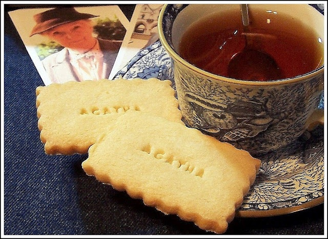 "And the cookies say ""Agatha""? Maybe the appropriate book for this treat is a mystery! :)"