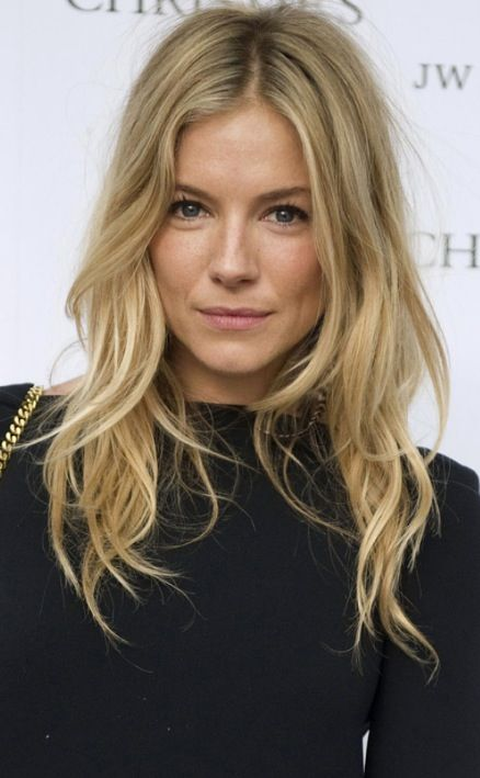 Sienna Miller - longish layers wavy dark blonde