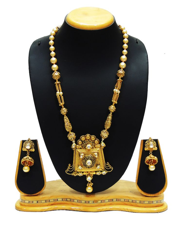 Traditional Gold Ball Pendent Neckalce Set For Women Imitation Jewellery