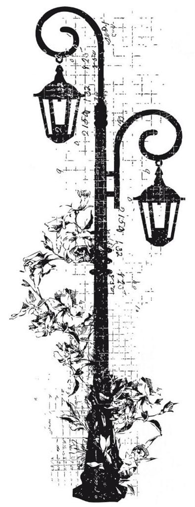 Decorative Lamp Clear Stamp Kaisercraft for Card Making (Unmounted) NEW