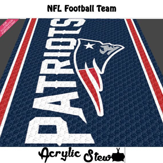 Crochet Pro Football Team Concept Art Graphgan Pattern, NFL Football Team Crochet Colorwork Pattern, PDF Digital Files  Acrylic Stew for Crochet and Cross Stitch Graph Patterns.  This is a color graph pattern to follow not a written pattern.  Football Team concept art pattern by Acrylic Stew is a graph that can be used to crochet a blanket using C2C (Corner to Corner), TSS (Tunisian Simple Stitch) and other techniques. Alternatively, you can use this graph for knitting, cross stitching and…