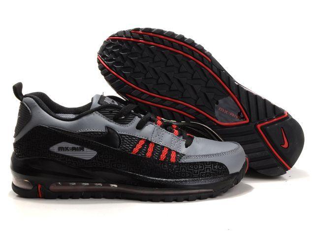 Q857Gr Nike Air Max Tn Shoes Mens Red/Black/Grey
