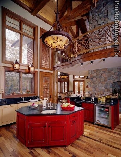 39 Best Images About Mountain Home Kitchens On Pinterest