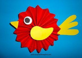 Addobbi Primavera - Uccellini a fisarmonica 3