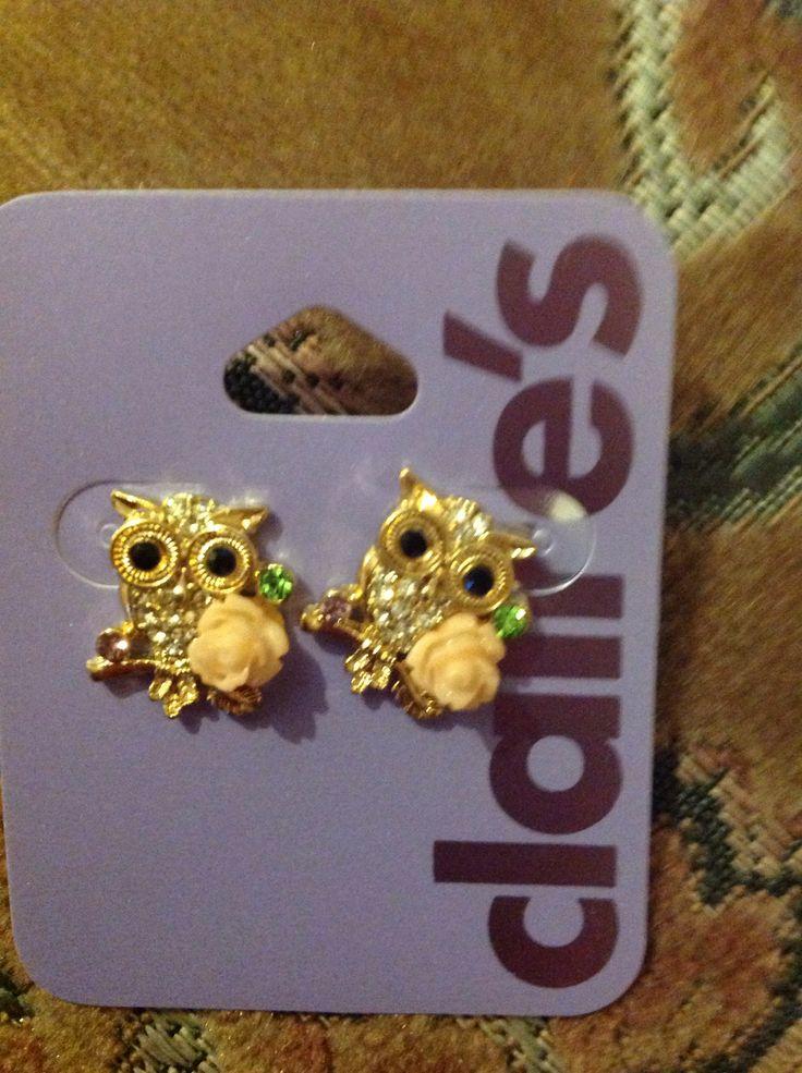Cute owl earrings l Claire's | Earrings | Pinterest | Cute ...