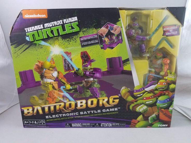 Battroborg Teenage Mutant Ninja Turtles Electronic Battle Game LEONARDO RAPHAEL #TOMY