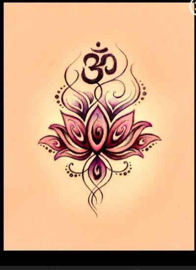 Beautiful lotus & ohm tattoo idea!!                              …                                                                                                                                                     More