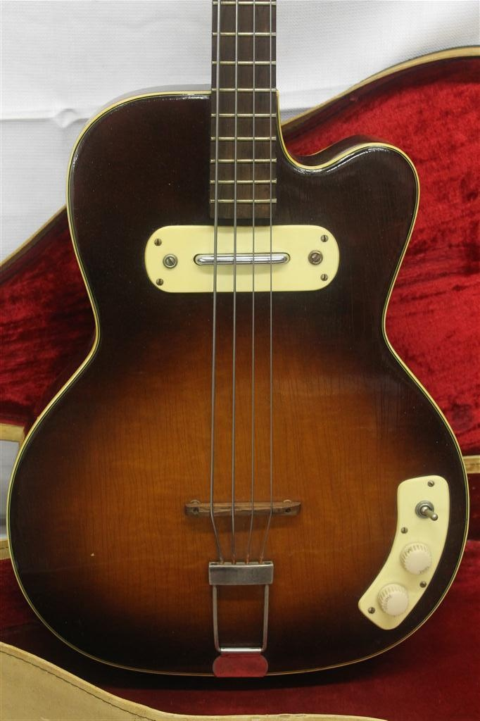 vintage 1950 39 s kay thin twin bass howlin wolf guitar original w soft case cool wolves. Black Bedroom Furniture Sets. Home Design Ideas