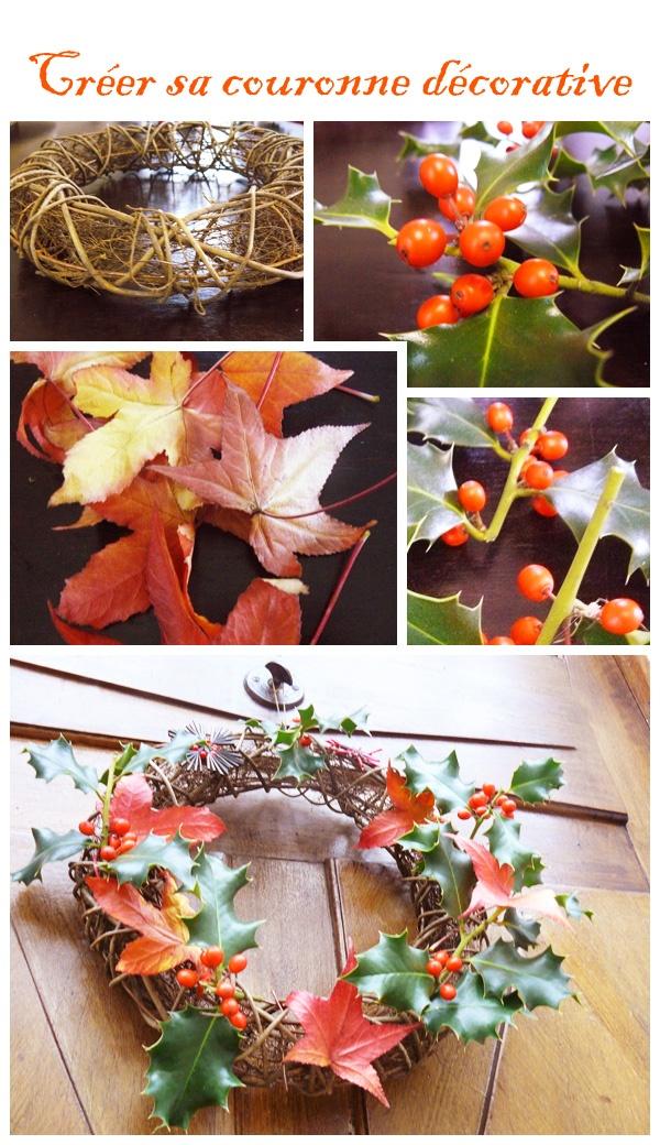 DIY : crééer sa couronne décorative    couronne entrée    couronne Noël    Couronne de l'avent