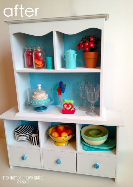 A Doll-Sized China Hutch - A (Mini) Furniture Makeover!