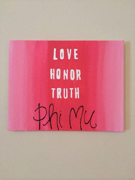 Phi Mu Painted Canvas on Etsy, $20.00