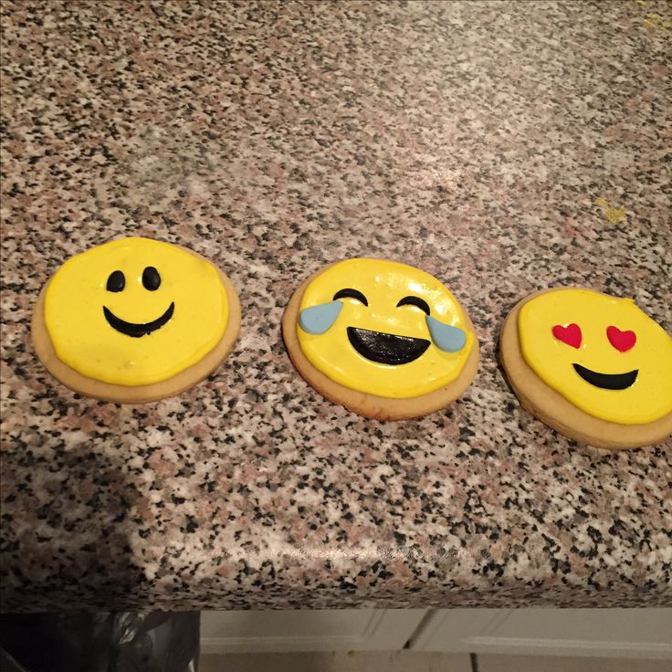 Emoji sugar biscuits