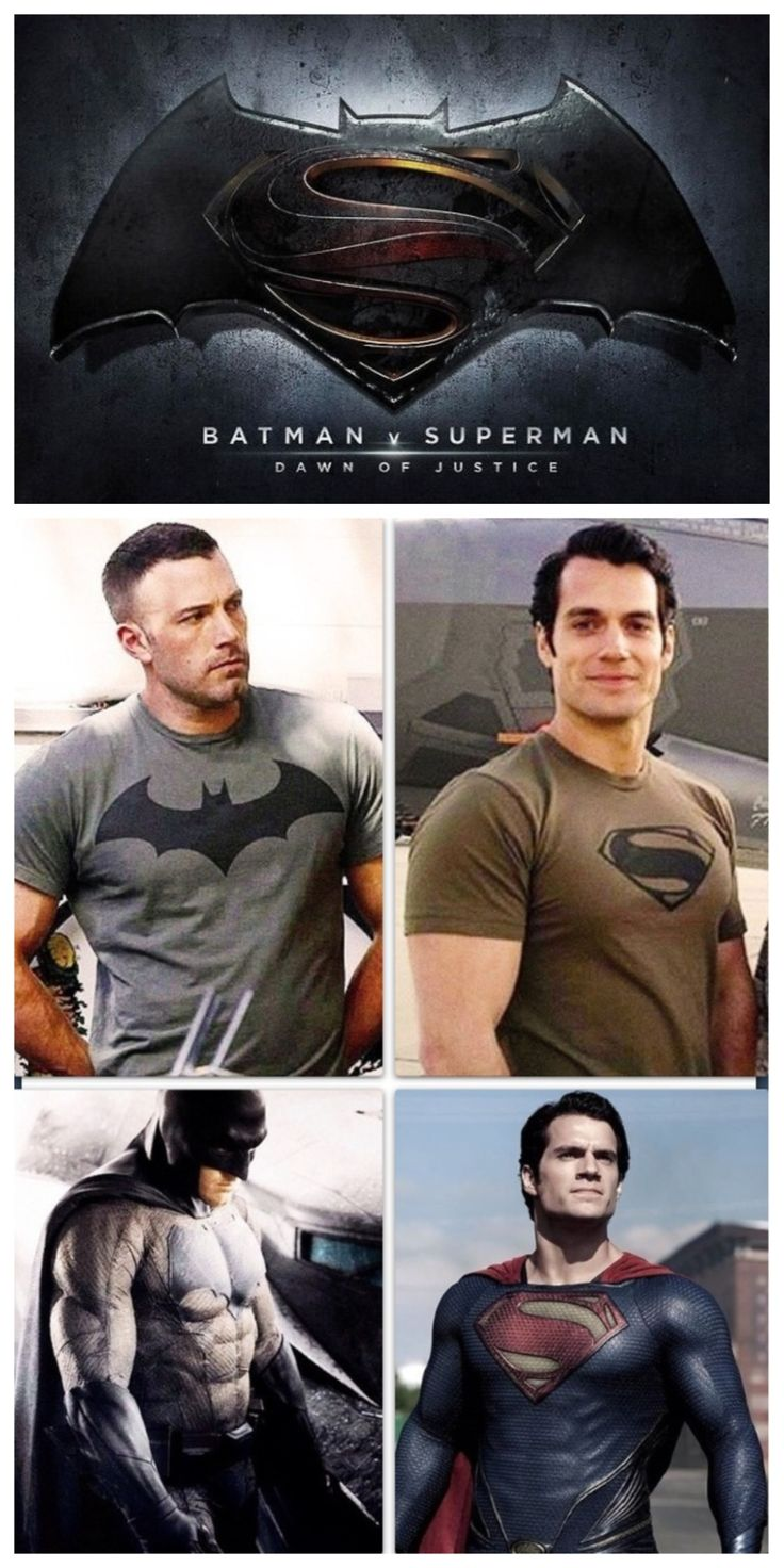 Batman (Ben Affleck) Superman (Henry Cavill)  pelicula: Batman vs superman 2016 el nacimiento de la justicia