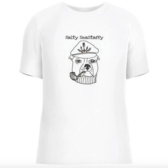Salty SeaStaffy staffy tee sea dog tshirt funny staffordshire