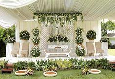 Dekorasi Pernikahan Outdoor Terbaru Modern Elegan Halaman Rumah
