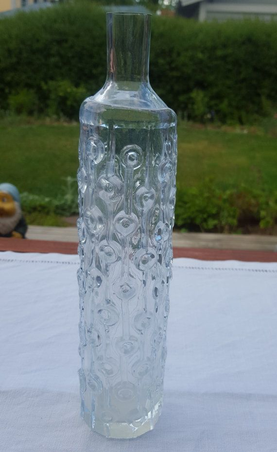 Josef Schott Smålandshyttan glass crystal vase by ElineaVintage