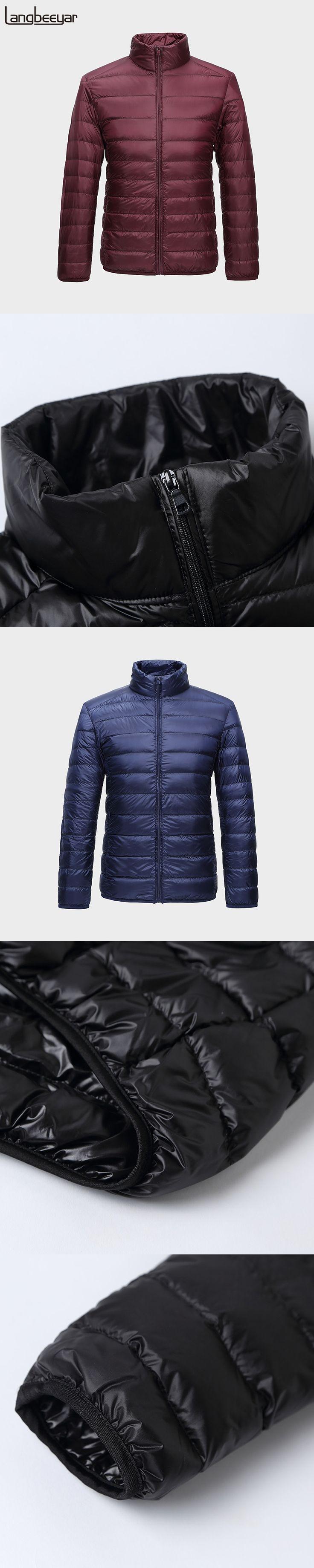 New Fashion 90% Ultra Light Down Jacket Men Top Grade Winter Jacket Men Parka Stand Collar Mens Winter Jackets And Coats S-3XL