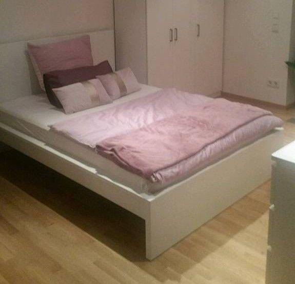 Ikea Malm Bett Weiss 140 Cm Mit Lattenrost Top Zustand Bett Ist