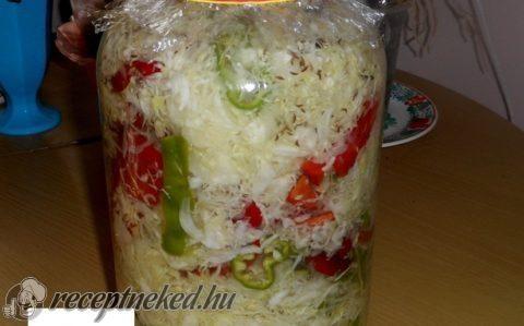 Fehér káposzta savanyúság télre recept fotóval
