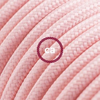 Round Electric Cable covered by Rayon solid color fabric RM16 Baby Pink Choose your country here: Italy: www.creative-cables.it USA: www.creative-cables.com Europe&Australia:www.creative-cables.net www.creative-cables.net #lighting #illuminazione #homedecor #house #haus #maison #hogar #casa #design #fabric #madeinitaly