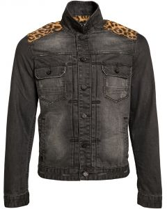 #govdenim #veste #leopard #trend #jean #modehomme #noir # ...