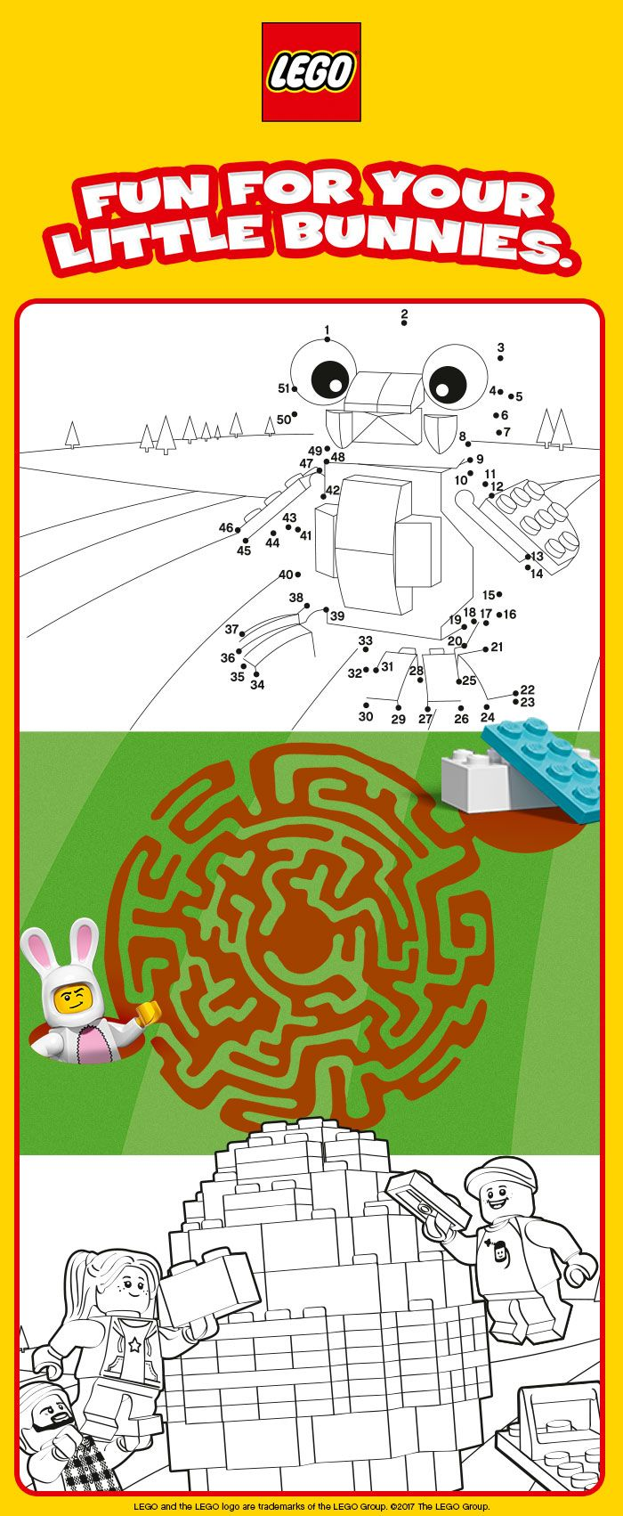 Funny LEGO Easter Activities that will keep your little bunny entertain!