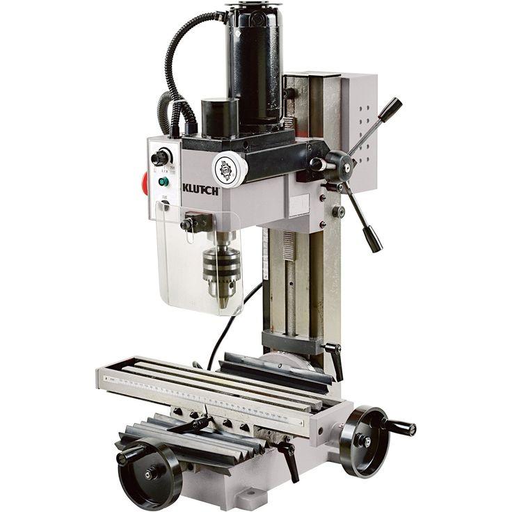 Klutch Mini Milling Machine 110v 350 Watts 3 4 Hp