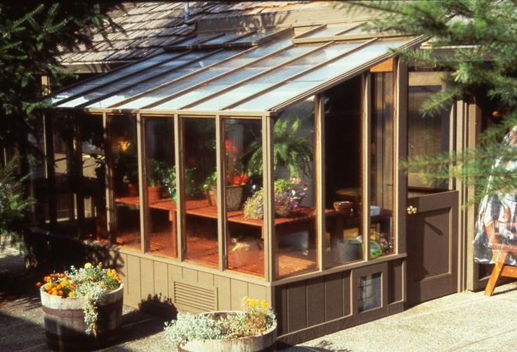 12 best lean to greenhouses images on pinterest for Sunroom attached to house