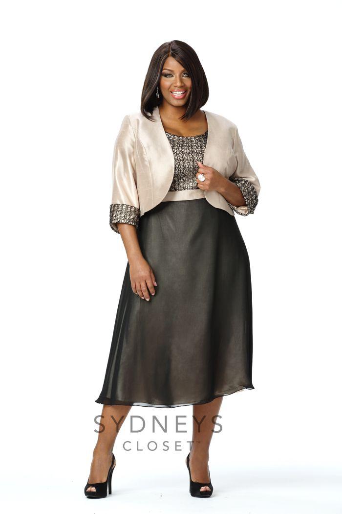 Chic plus size jacket dress SC3053   Sydney's Closet
