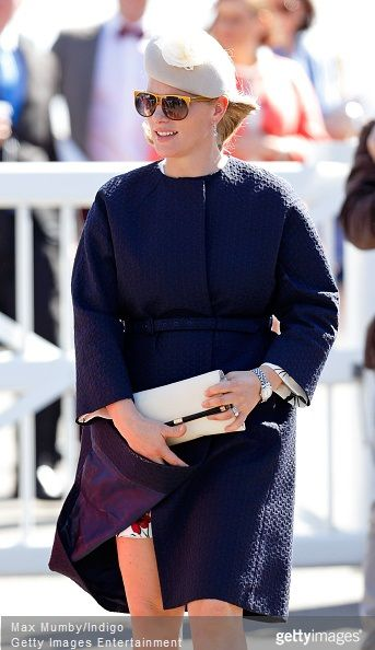 Zara Phillips and Mike Tindall attended day 3 'Grand National Day' of the Crabbie's Grand National Festival at Aintree Racecourse on April 11, 2015 in Liverpool, England.