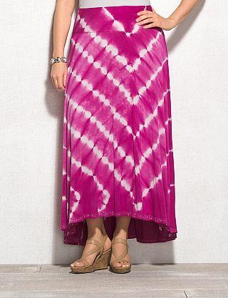 plus size high low embellished tie dye maxi skirt stuff