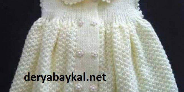 Yakalı Örgü Bebek Elbise Yapılışı
