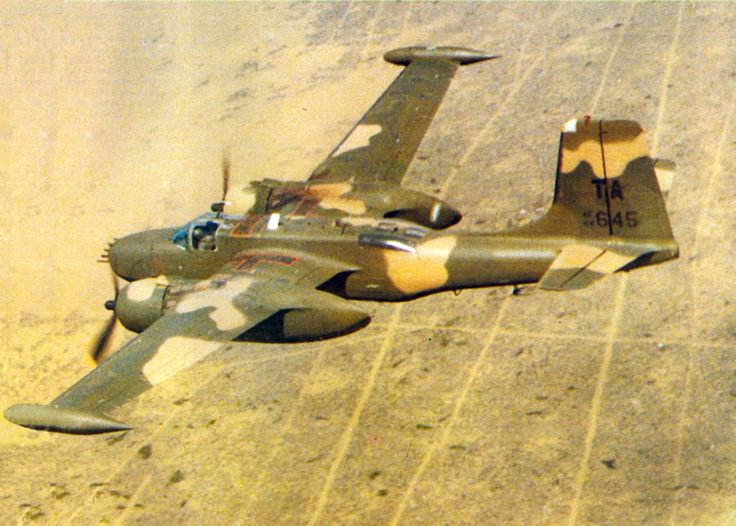 A USAF Douglas/On Mark A-26K Invader of the 609th Special Operations Squadron near Nakhon Phanom Royal Thai Air Force Base, between 1967 and 1969. The A-26K (B-26K) 64-17645 (ex A-26C 44-35546) had been in Chilenean service in the 1950s. It was rebuilt by On Mark as a B-26K and used by the CIA in the Congo from 1964-66 as RF645 and later FR-645. It arrived in SEA, Aug 1967 and was turned over from the USAF to the South Vietnamese Air Force on 10 Nov 1969.
