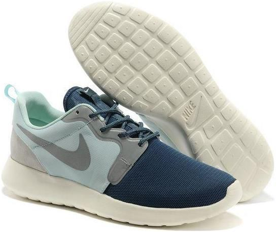 Nike Roshe Run HYP QS Mens Light Weight Mesh Light Green Air Force Blue Low Running