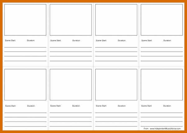 9 10 Storyboard Template Pdf Genericresume Storyboard Template