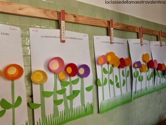 La classe della maestra Valentina: UN MAZZOLINO DI FIORI PER LA MAMMA