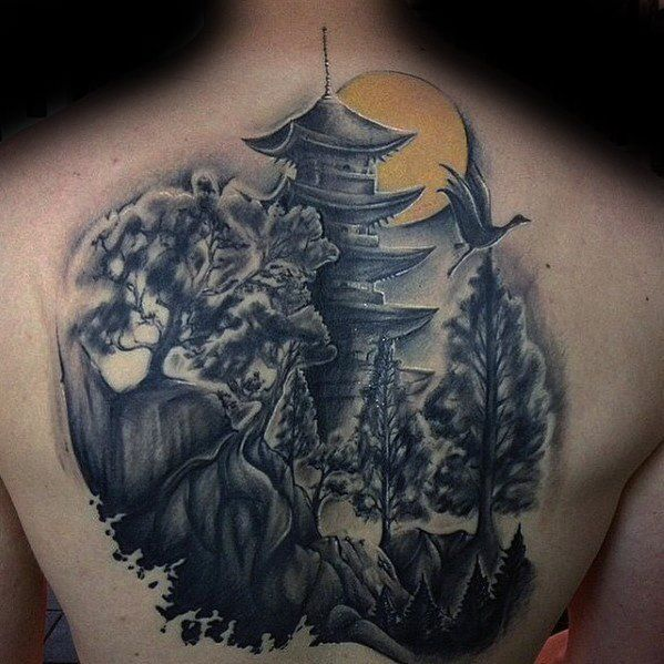 60 Pagoda Tattoo Designs For Men Tiered Tower Ink Ideas Tattoo Designs Men Tattoo Designs Tattoos