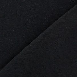 Tissu Jersey uni 100% coton - noir x 10cm
