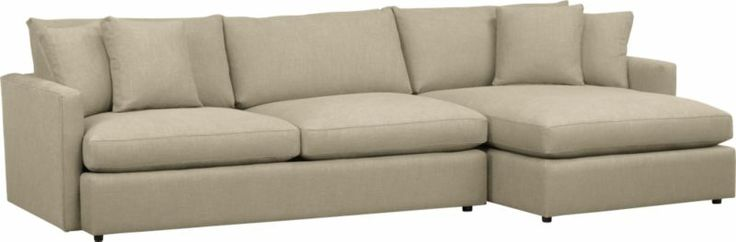 Lounge 2-Piece Sectional Sofa in Sectional Sofas | Crate and Barrel