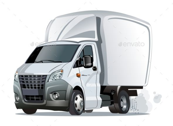Cartoon Delivery Or Cargo Truck With Images Truck Detailing