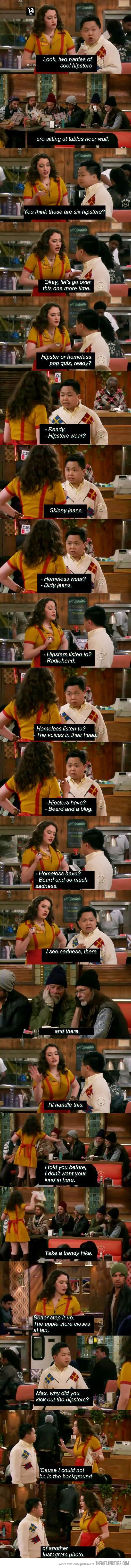Hipster or Homeless? HAHAHA I don't watch this show but this is awesome