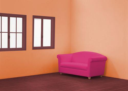 Оранжево — розовый цвет в индийском интерьере